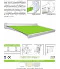 Tenda a bracci estensibili Mod. RT100E con cassonetto