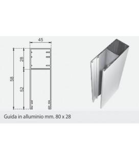 Guida in alluminio 80X28